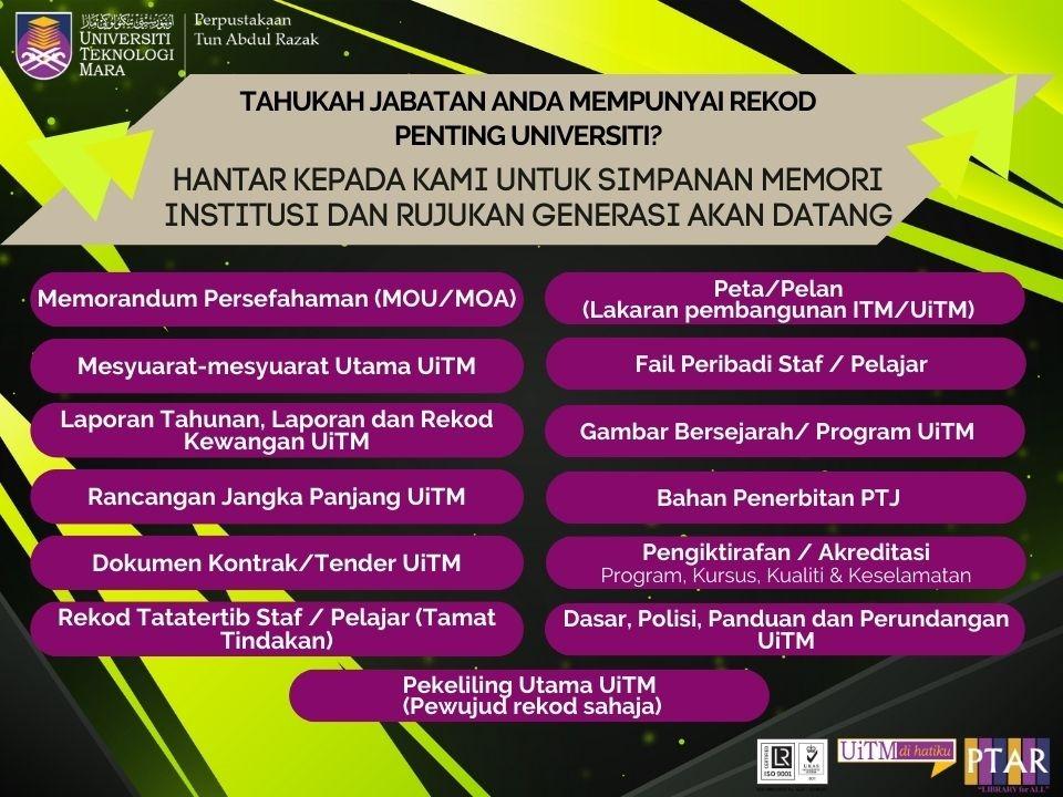 rekod universiti