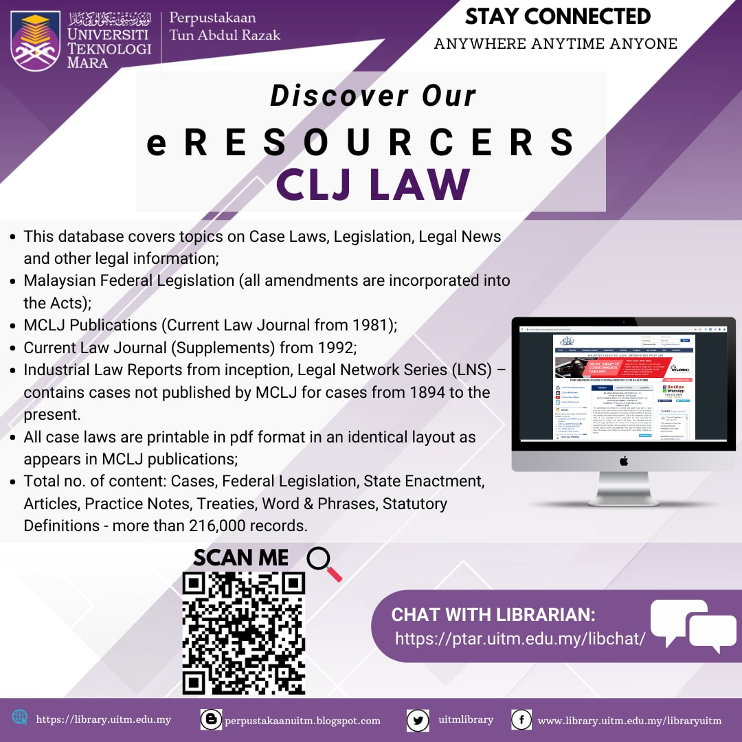 Discover our eResources : CLJ Law