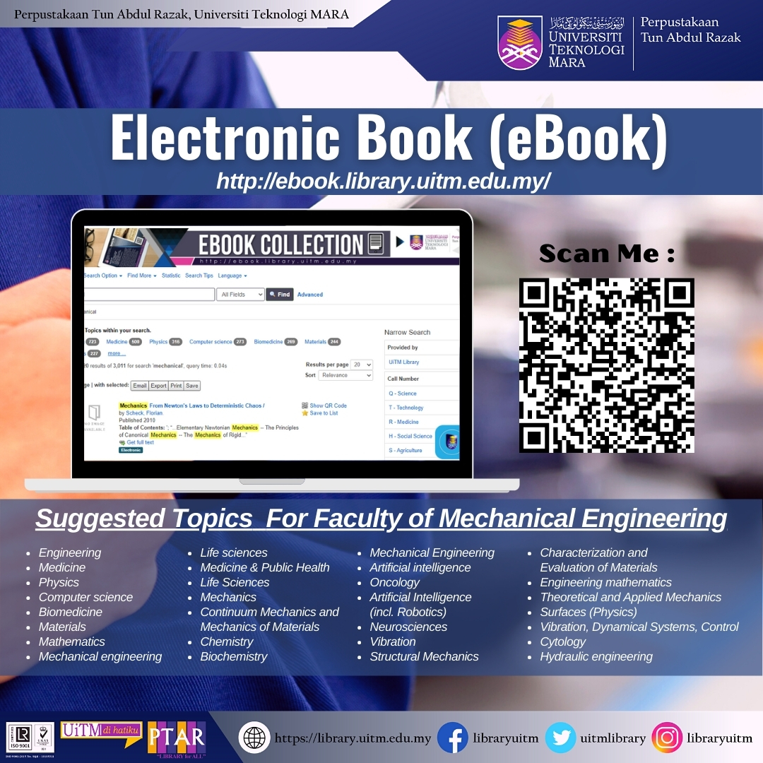 Discover our eResources on Faculty Mechanical Engineering eBook