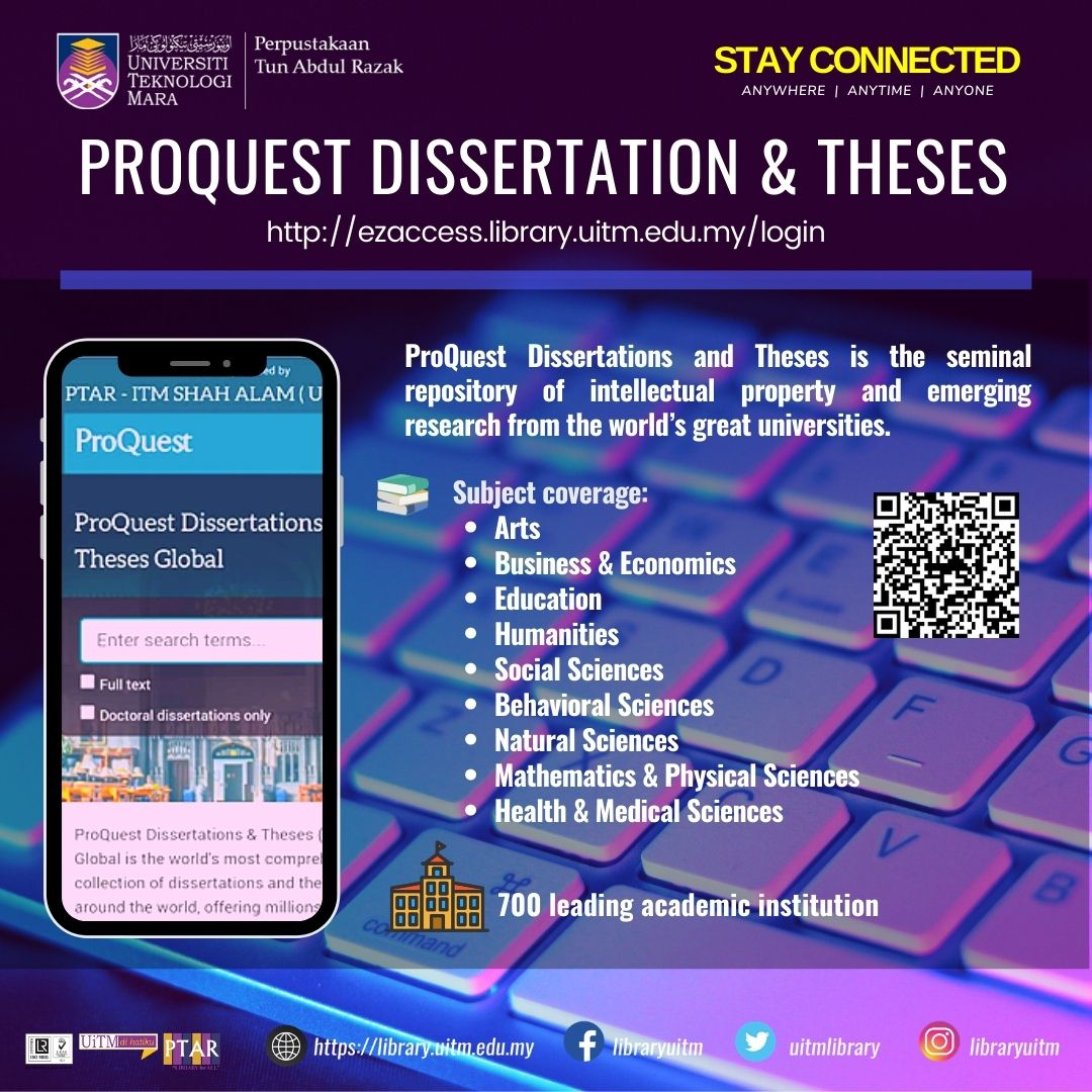 Discover Our eResources ProQuest Dissertation & Theses Global
