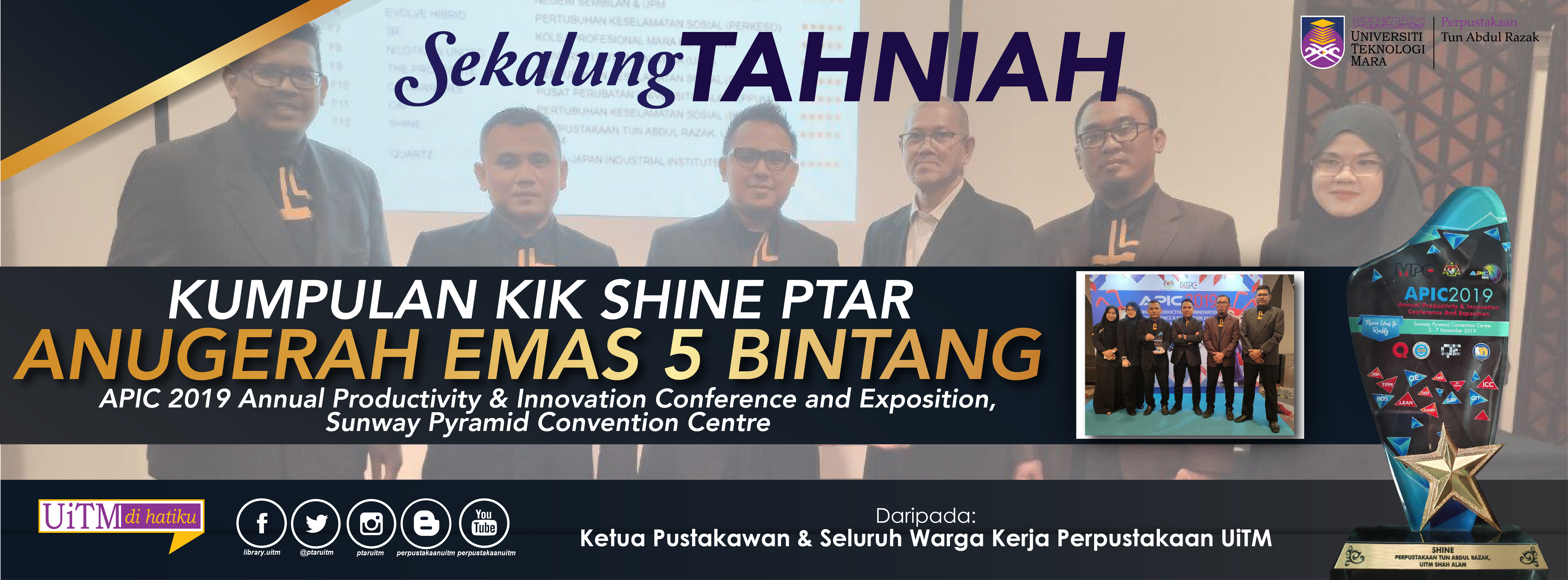 Tahniah KIK Shine Anugerah Emas 5 Bintang di APIC National Team Excellence
