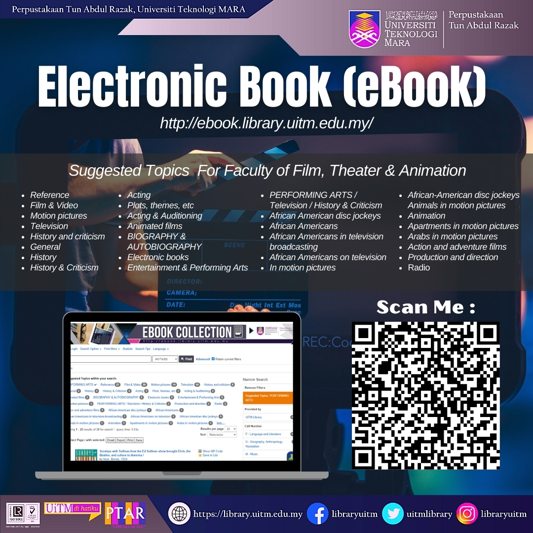 eResources on Film, Theatre and Animation eBooks