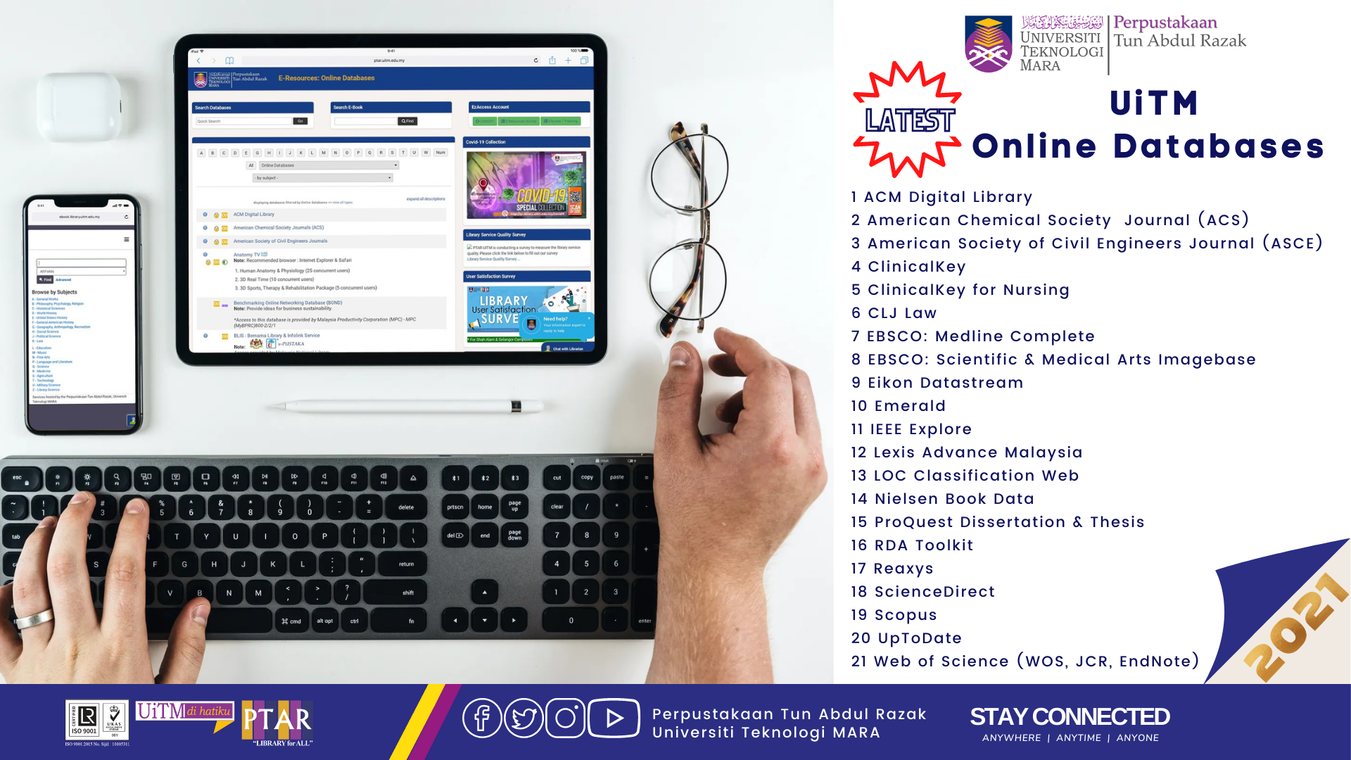 STAY CONNECTED: Latest UiTM Online Databases 2021