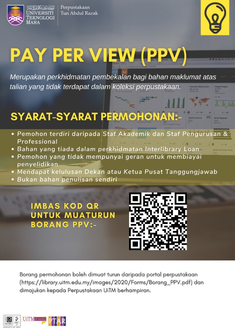 PAY-PER-VIEW is a service offered by Perpustakaan Tun Abdul Razak