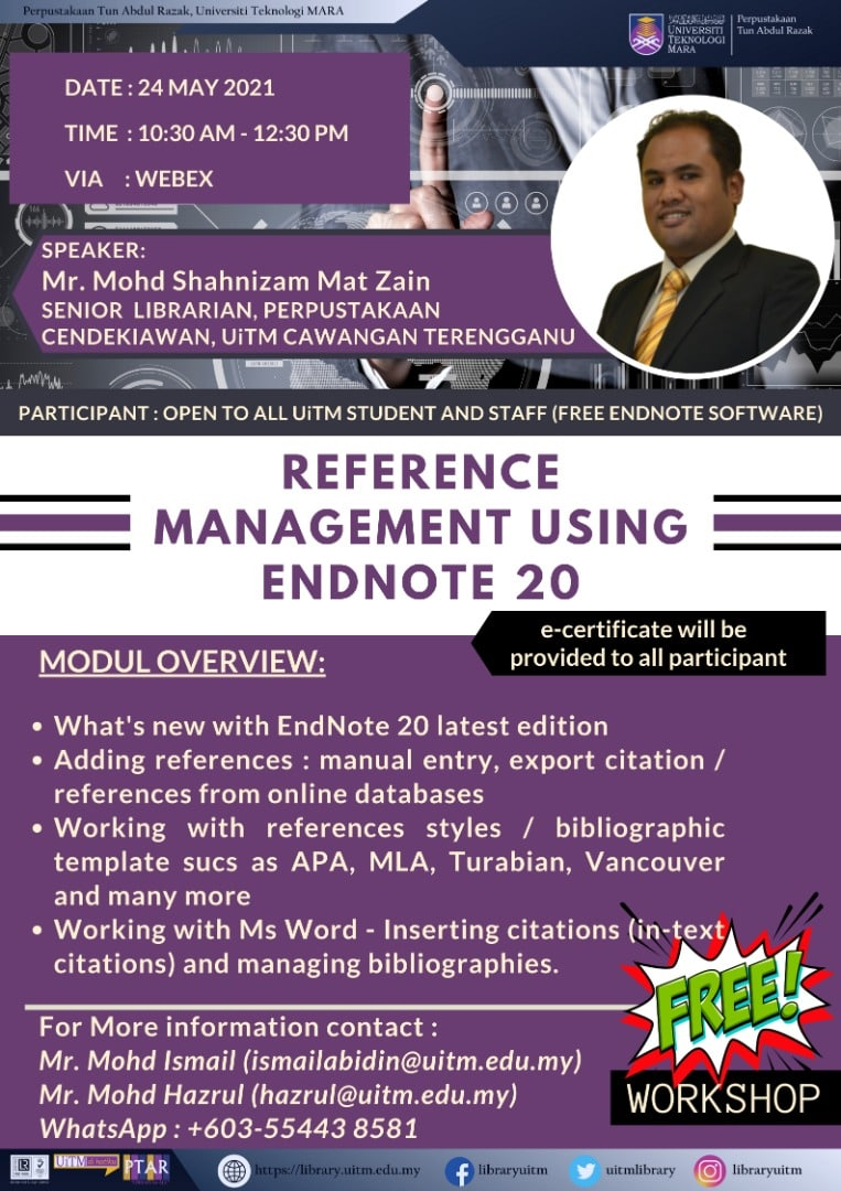 Reference Management using EndNote 20